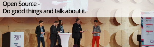 Open Source - Do good things and talk about it.