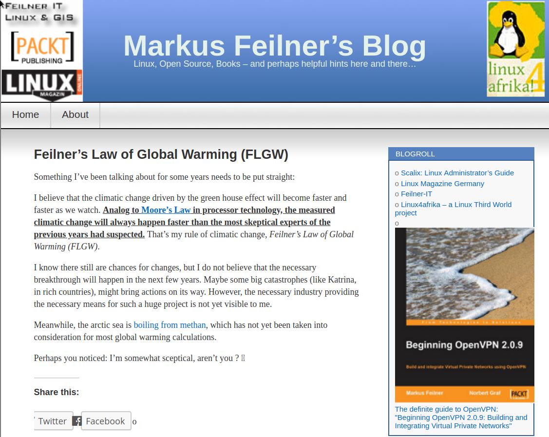 flogw flgw Feilner's law of global warming