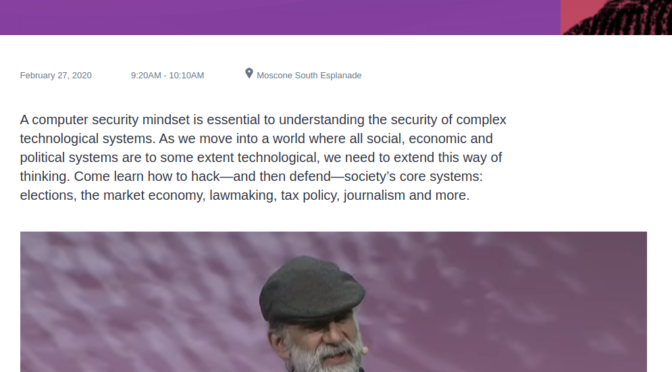 #BruceSchneier  #HackingSociety So right he is.